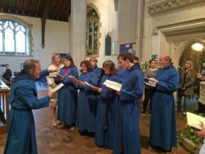 Choir sing introit