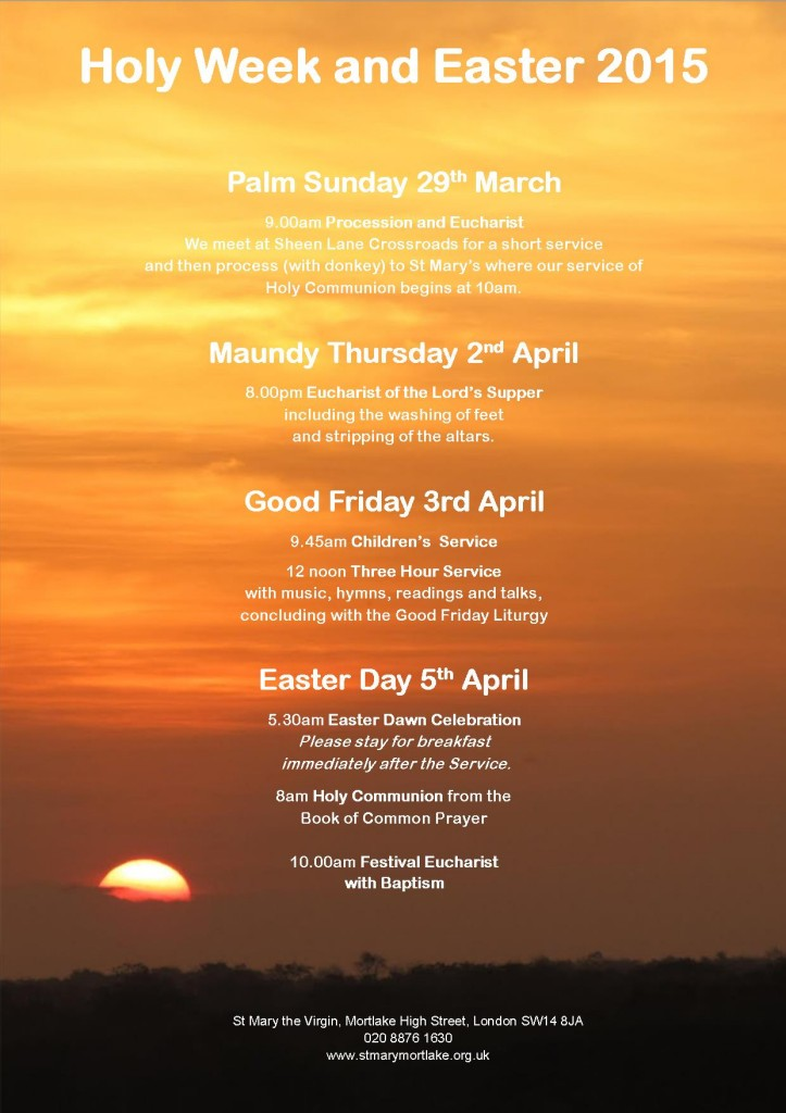 Holy Week and Easter 15 for website final